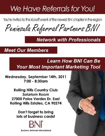 Invitation To Business Networking Event Wednesday September 14th